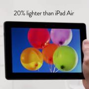 """Naujausia """"Amazon Kindle Fire"""" reklama nukreipta prieš """"iPad Air"""""""