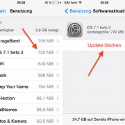 """Bandomojoje """"iOS 7.1"""" versijoje leidžiama iš įrenginio ištrinti instaliacinį sistemos failą"""