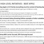 """Svarbiausias """"Samsung"""" tikslas – įveikti """"Apple"""""""