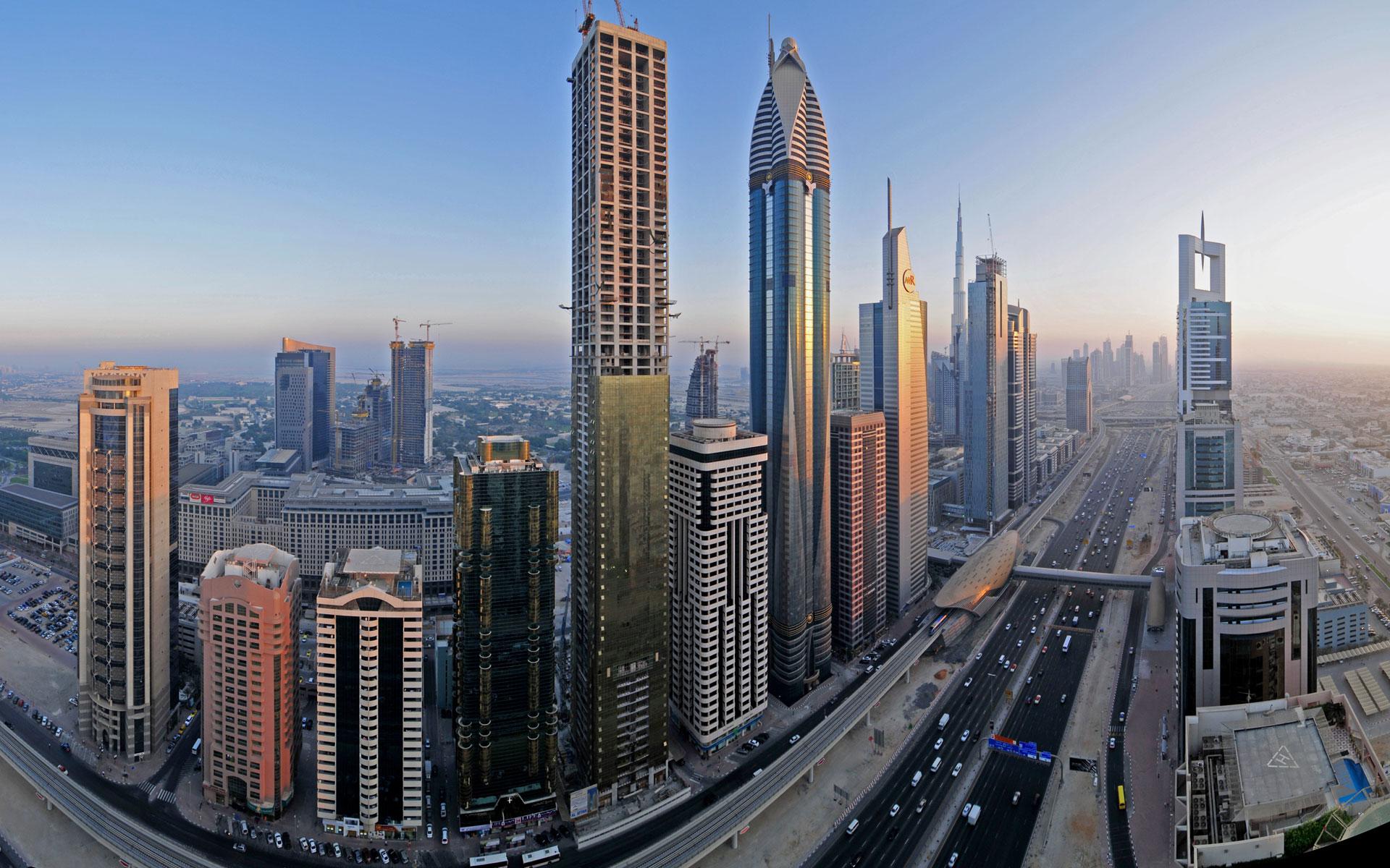 Pastatai Dubajaus mieste