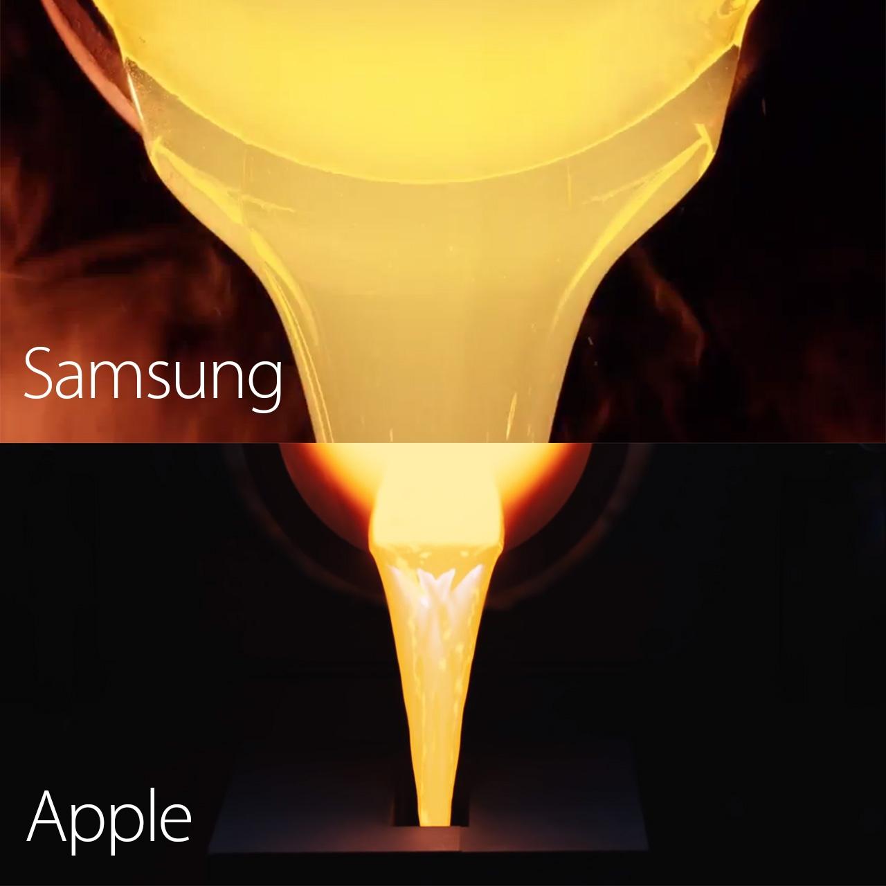 """Reklamų palyginimas: """"Apple"""" ir """"Samsung"""""""