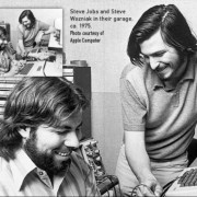 Steve'as Wozniakas ir Steve'as Jobsas
