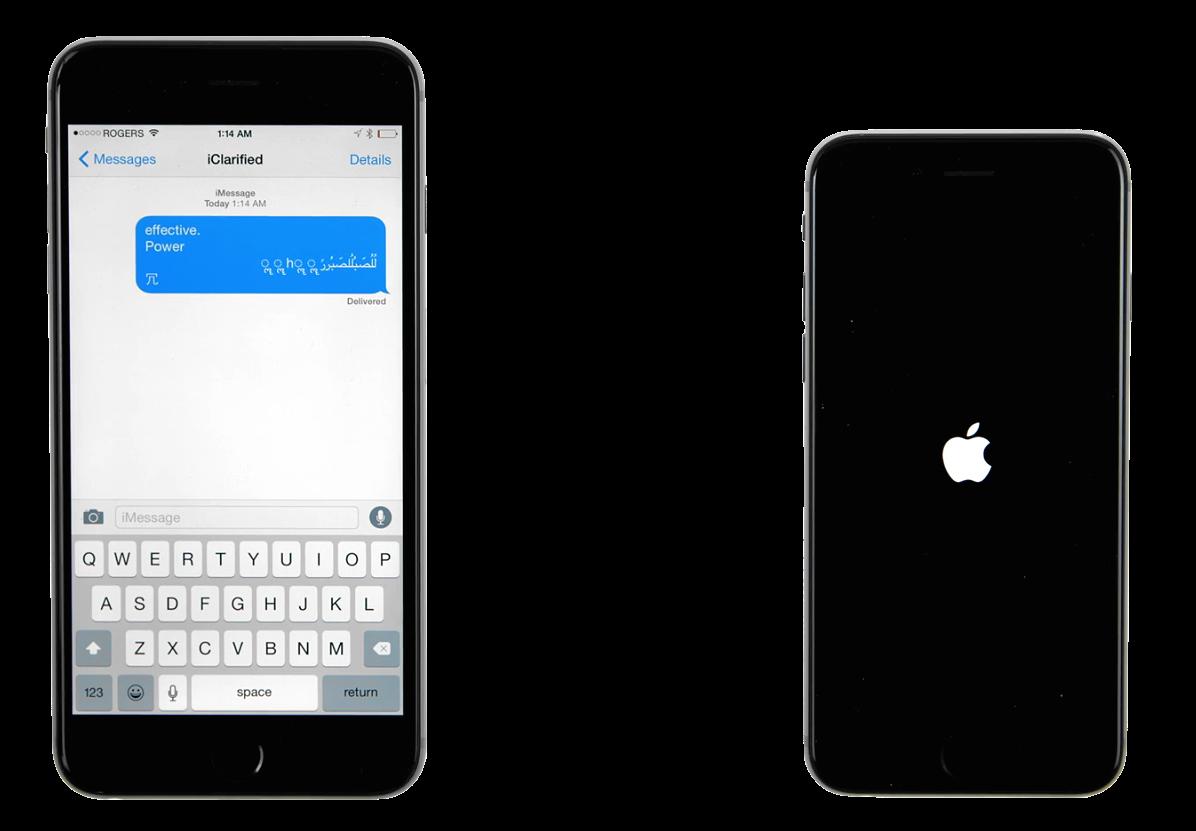 """""""iOS"""" žinučių klaida"""