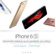"""Lietuvoje pradedama prekyba išmaniaisiais telefonais """"iPhone 6S"""" ir """"iPhone 6S Plus"""""""