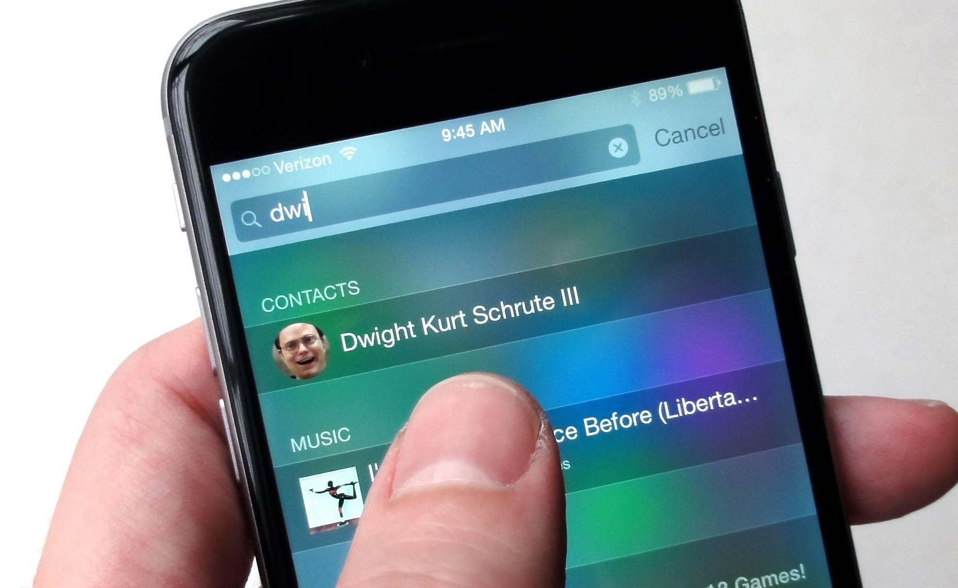 """Kaip išspręsti """"iOS 9.1"""" problemą, kai neveikia kontaktų paieška"""