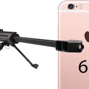 """Naujasis """"iPhone 6S"""" – prieš stambaus kalibro snaiperinį šautuvą"""