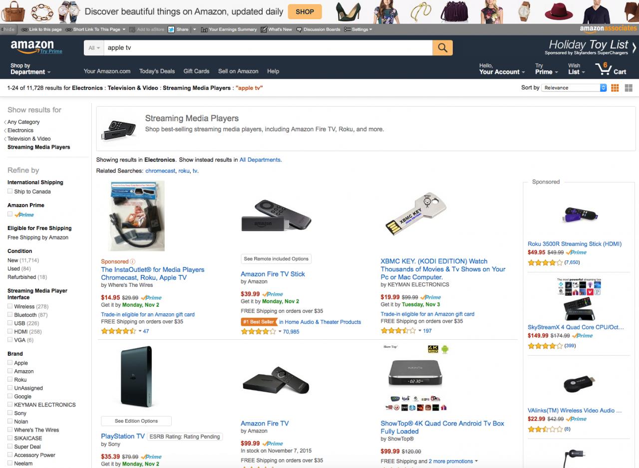 """""""Amazon"""" nutraukė prekybą televizijos priedėliu """"Apple TV"""""""