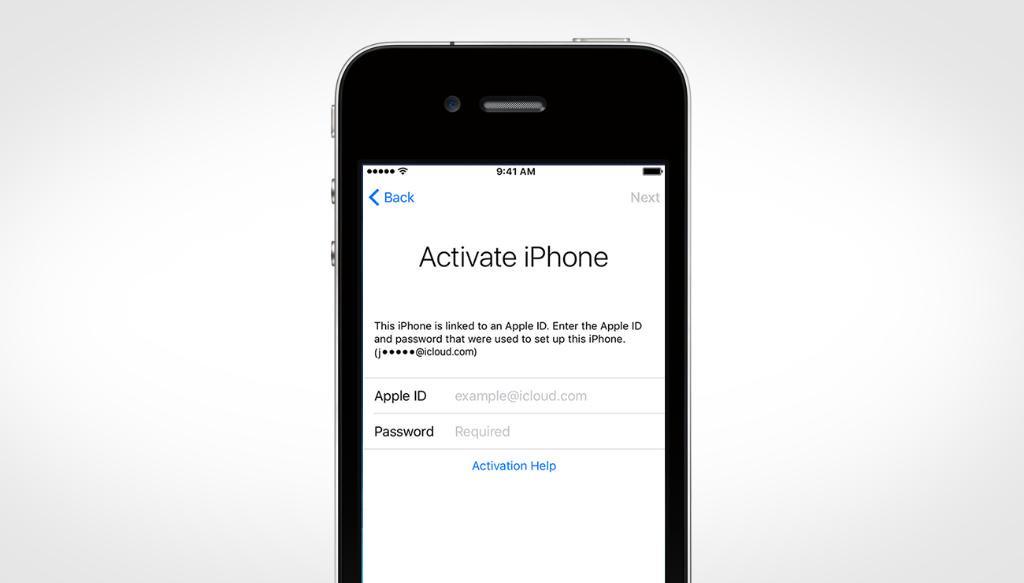"""""""iPhone"""" aktyvacijos užraktas"""