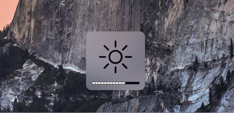 """""""Mac"""" ekrano ryškumas"""