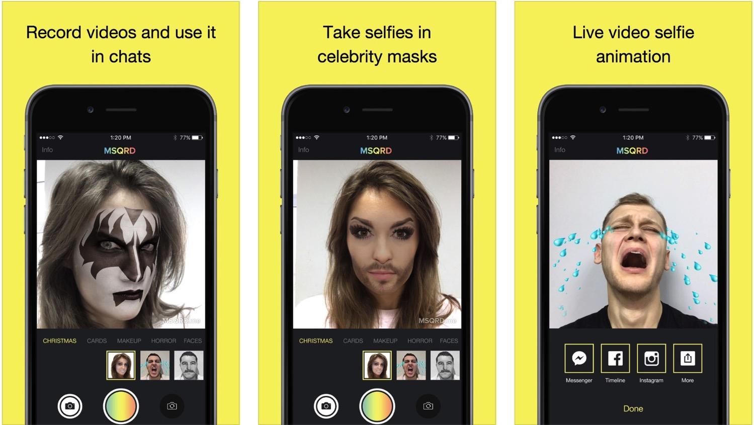 """""""Facebook"""" įsigijo populiarią veidų keitimo aplikaciją """"MSQRD"""""""