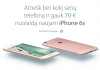 """""""iDeal"""" siūlo įsigyti """"iPhone 6s"""" pigiau mainais į seną telefoną"""