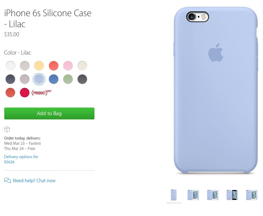 """""""iPhone 6s"""" silikoninis dėklas"""