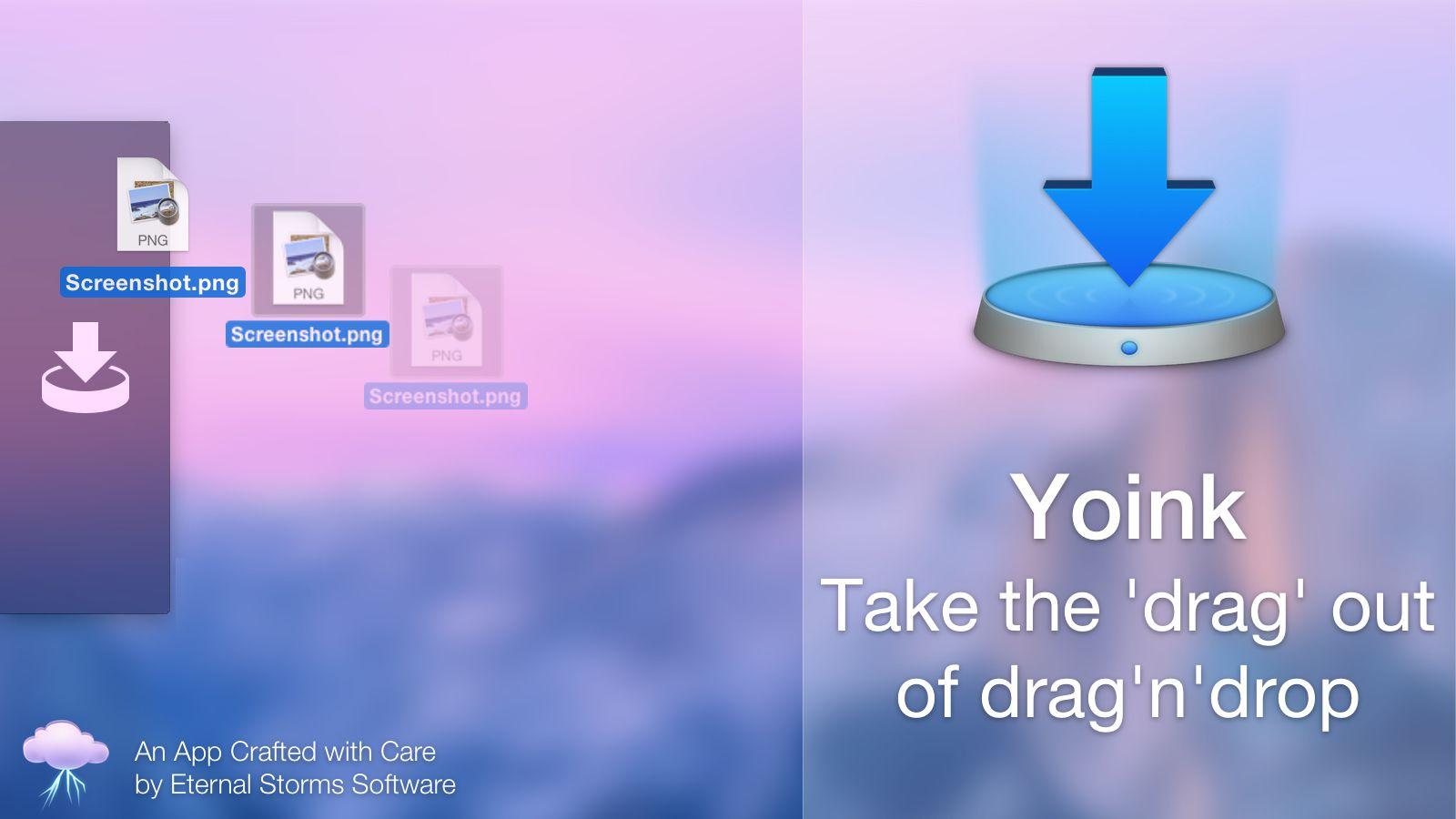"""""""Yoink"""" – įrankis failų perkėlimui tarp """"Mac"""" programų ir darbalaukių: apžvalga (+ konkursas)"""